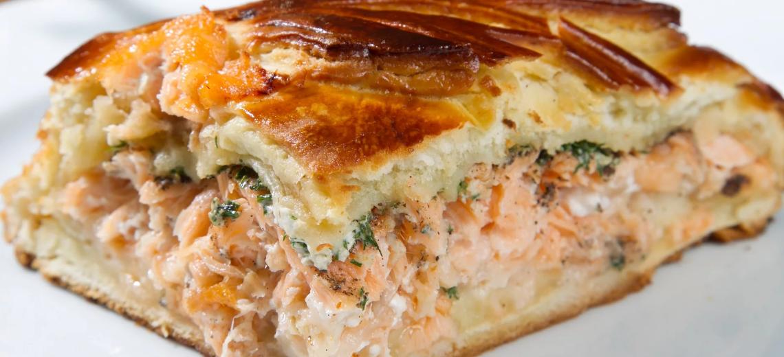 Пирог рыбный «ленивый»