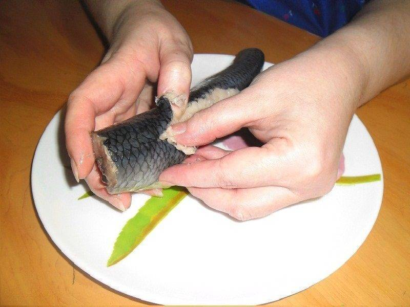 Как разделать селедку? 15 фото как правильно и быстро очистить рыбу от костей? как отделить филе сельди одним движением?