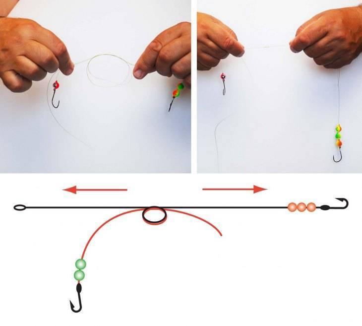 Как привязать карабин к основной леске или плетенке для спиннинга