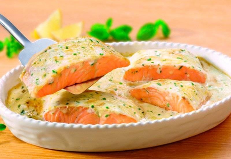 Приготовление лосося в сливочном соусе