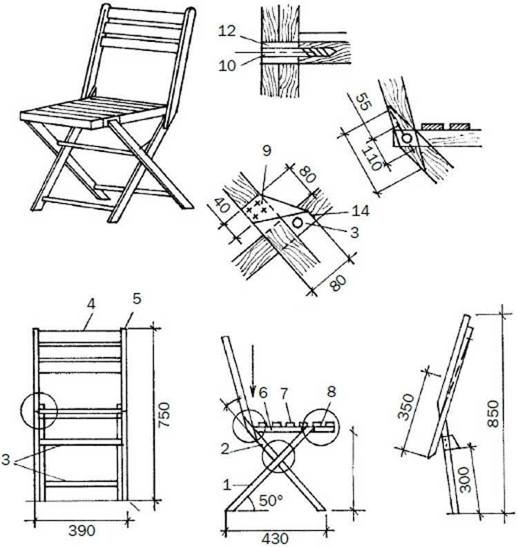 Складной стул своими руками: как сделать раскладной стульчик со спинкой из труб, самодельная модель из металла и фанеры