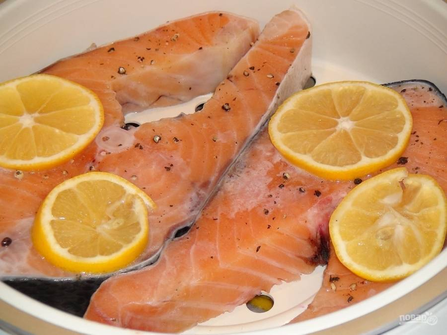 Рыба в мультиварке на пару / блюда из семги / tvcook: пошаговые рецепты с фото