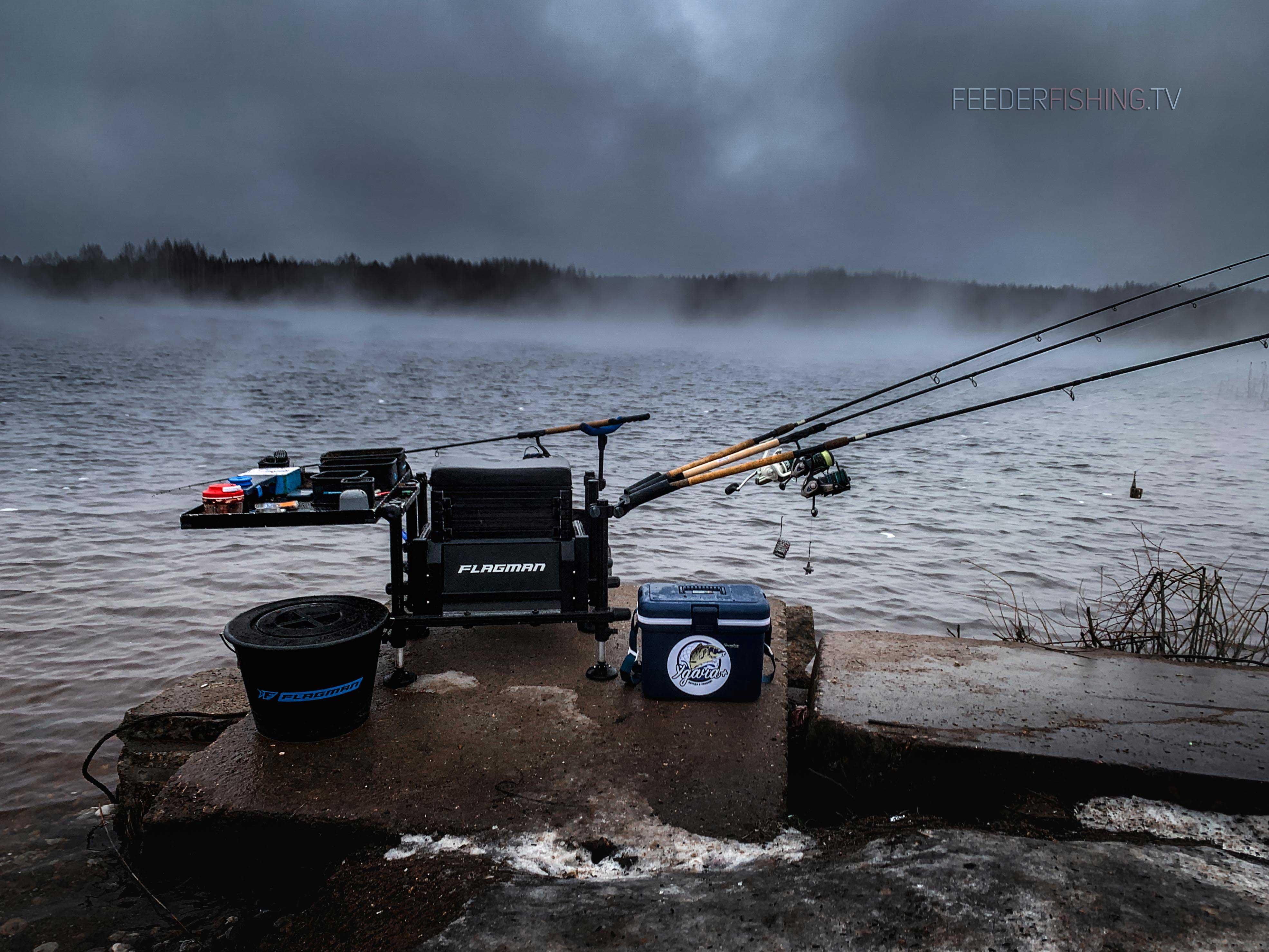 Зимний фидер: ловля с берега и со льда, секреты зимней прикормки, особенности монтажа снасти
