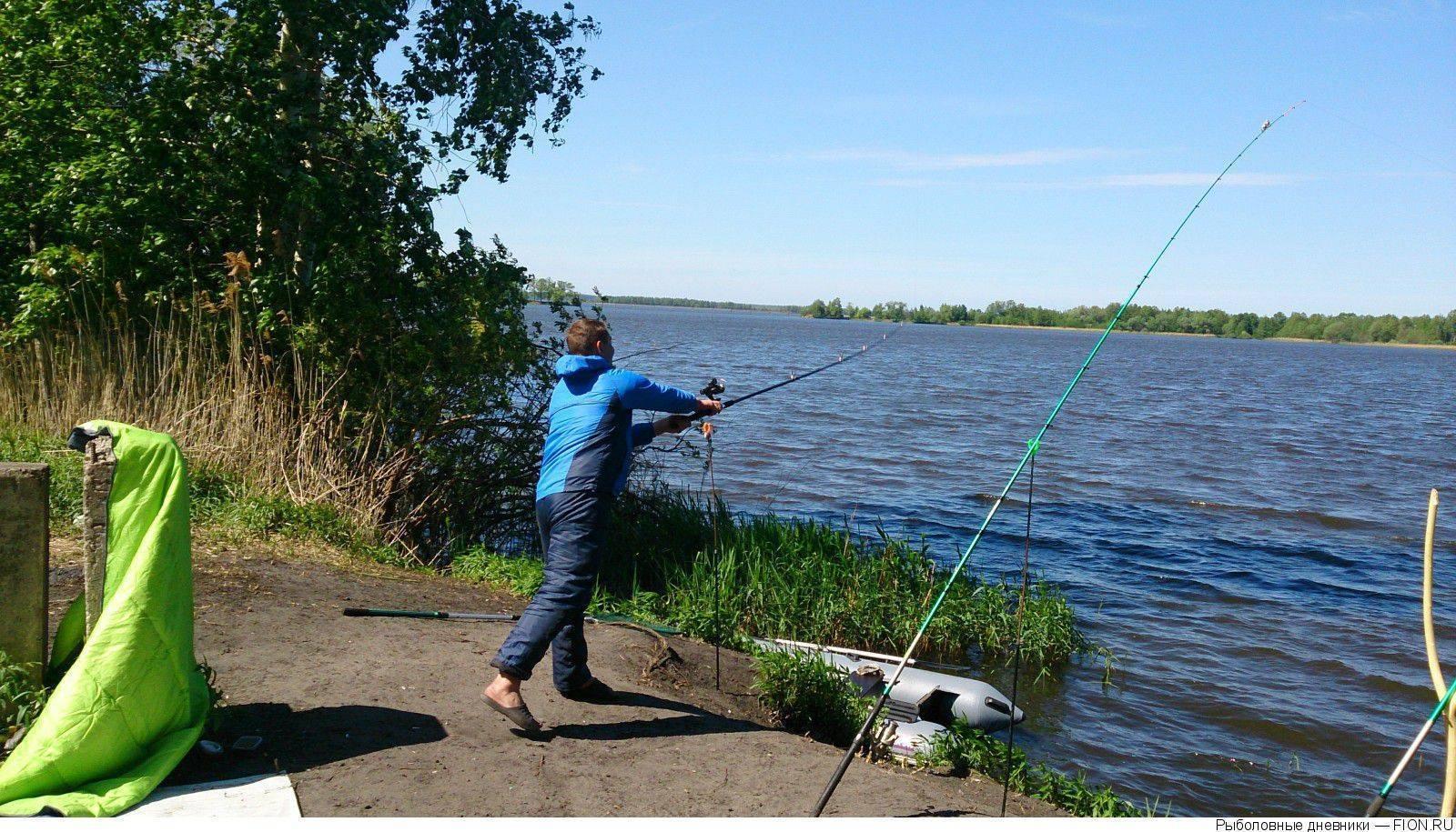 Рыбалка на белом озере в шатуре