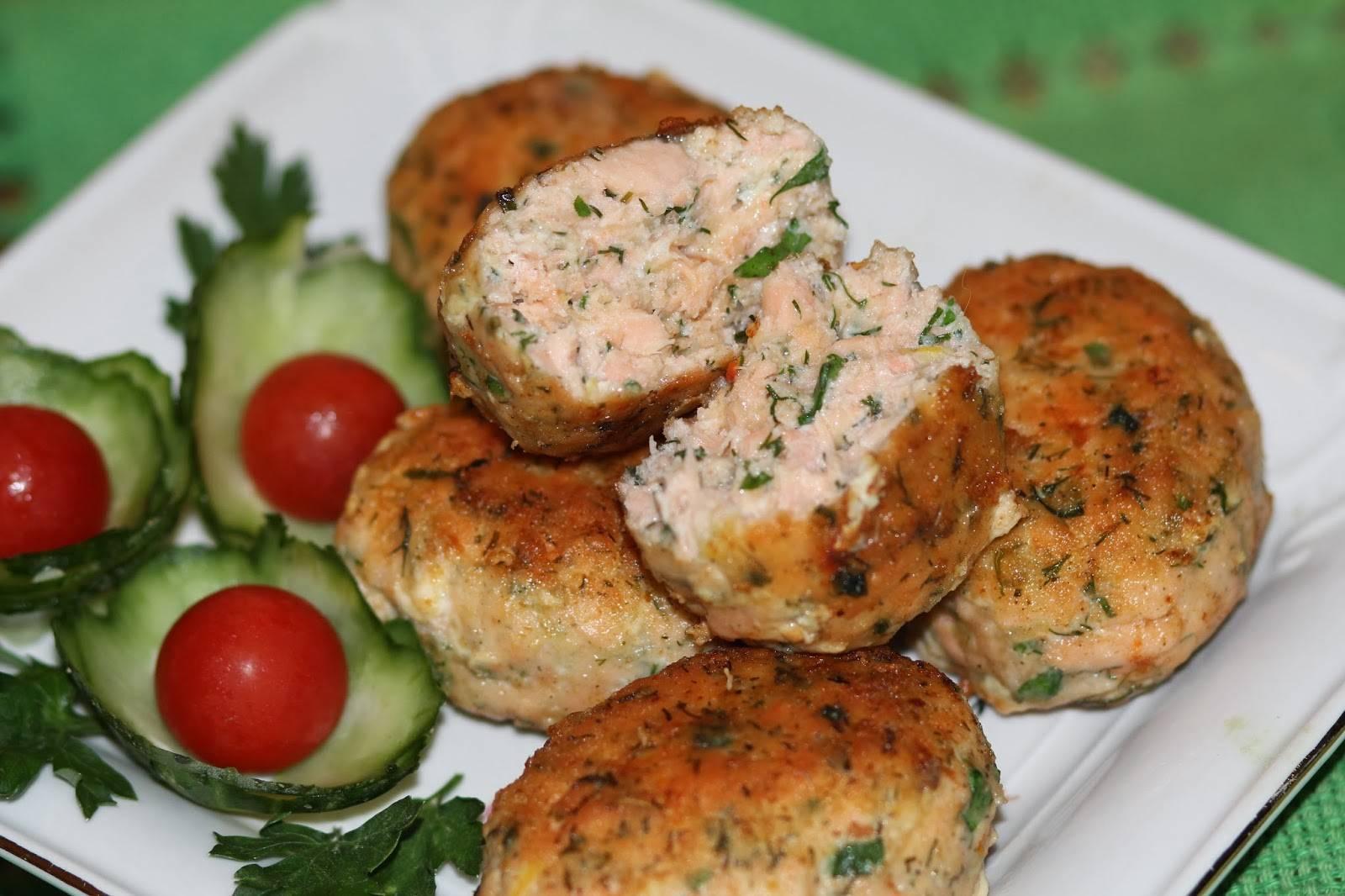 Котлеты из красной рыбы – кулинарный рецепт