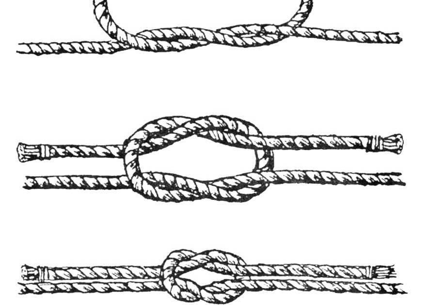 Морской узел: как вязать морские узлы, как завязать схемы вязки