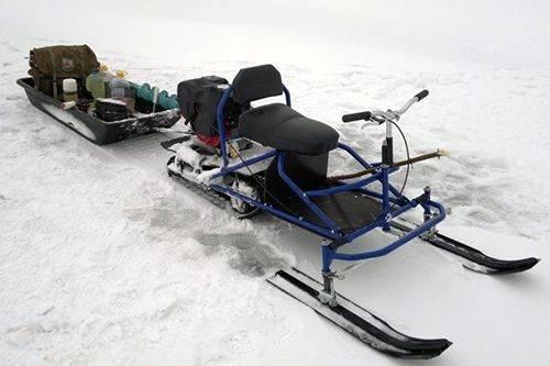 Мини снегоходы для зимней рыбалки
