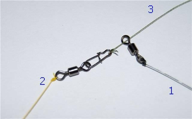 10 способов привязать карабин к леске