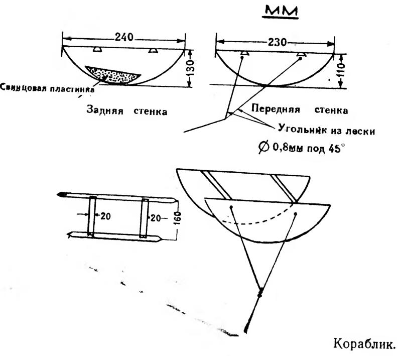 Кораблик для рыбалки: как сделать своими руками (чертежи)