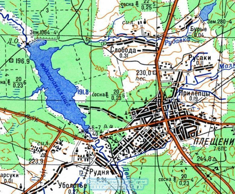 Карта глубин залегания воды в беларуси, глубина залегания воды по алфавиту