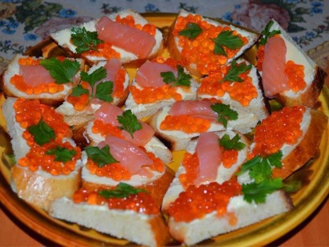 Бутерброды с красной рыбой на праздничный стол — простые и вкусные рецепты к новому году 2021