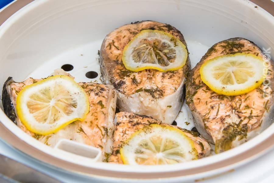 Запеченная семга в мультиварке / блюда из семги / tvcook: пошаговые рецепты с фото