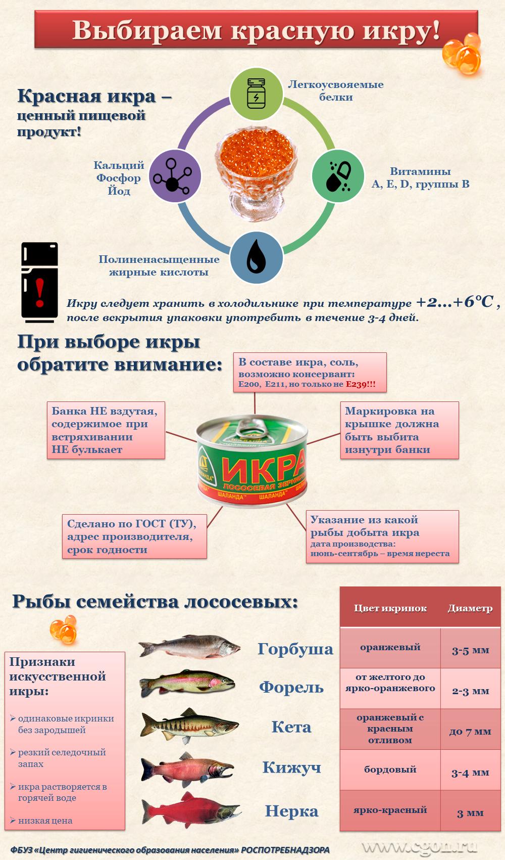 Полезные свойства икры