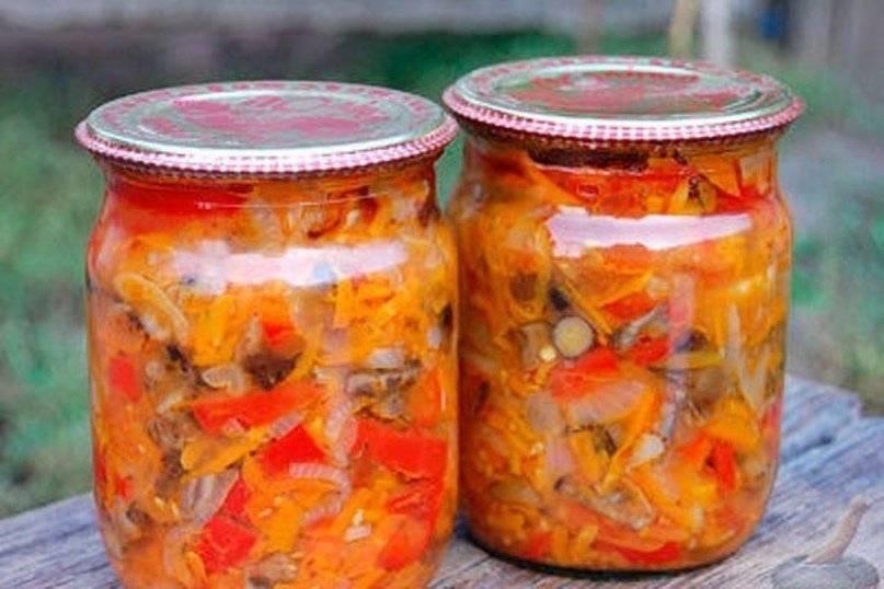 Салат из скумбрии с овощами на зиму — 6 рецептов классной заготовки