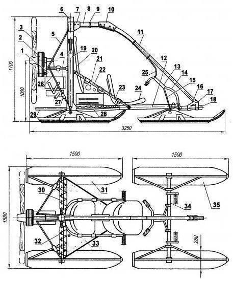 Как сделать аэросани своими руками — самодельные аэросани: конструкция, чертежи