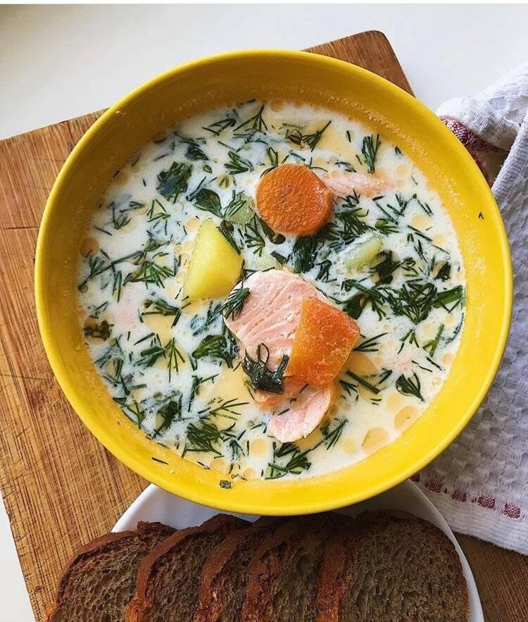 Суп из красной рыбы со сливками