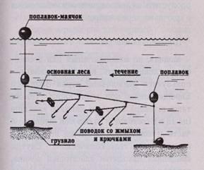 Ловля на подпуск: устройство снасти и техника ужения