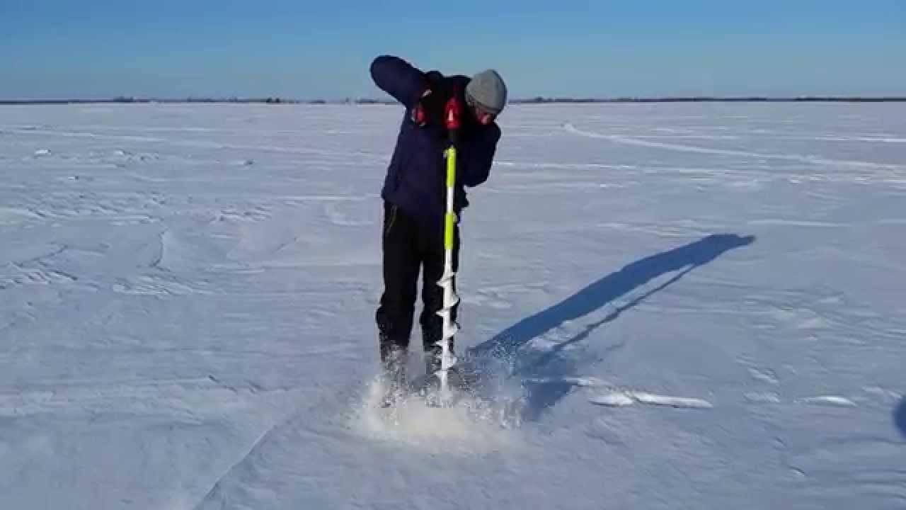 Зимняя подготовка лунок для рыбалки | бурение или сверление?