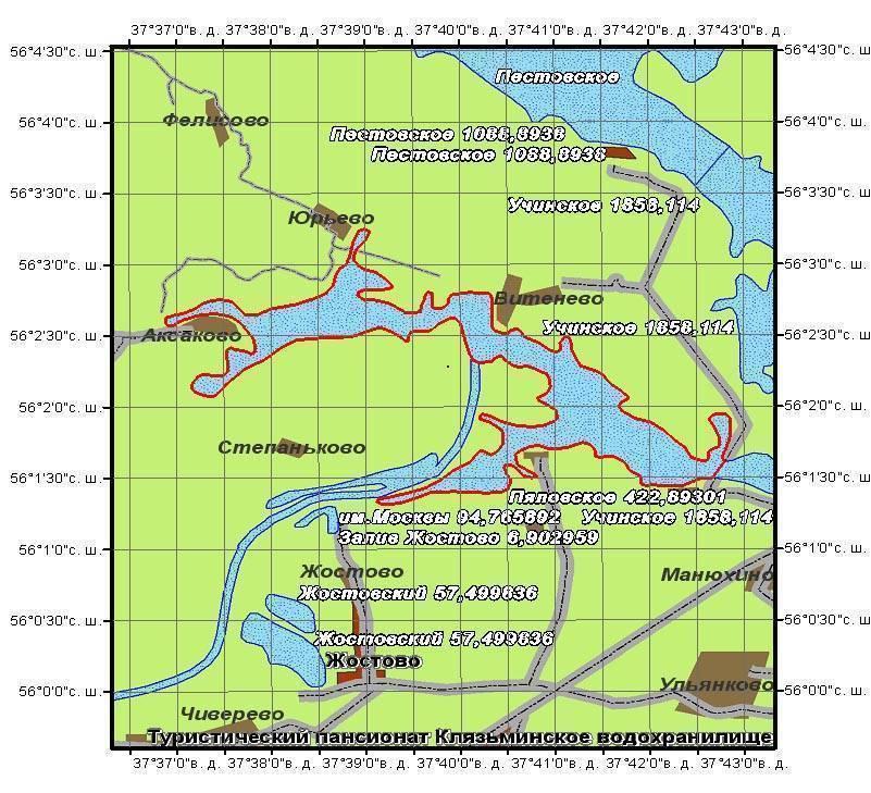 Рыбалка на озернинском водохранилище: карта, рыболовные места
