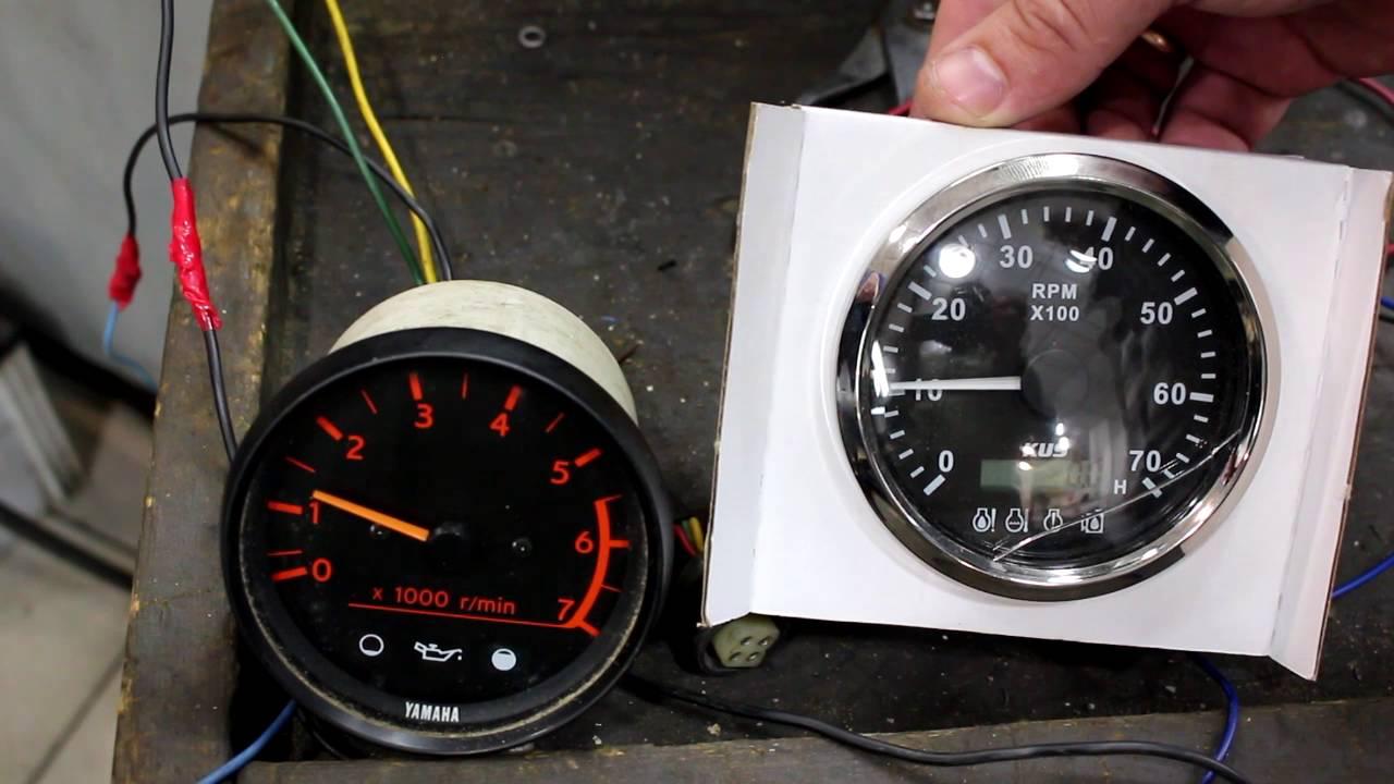 Зачем нужен тахометр для лодочного мотора, как его выбрать и установить