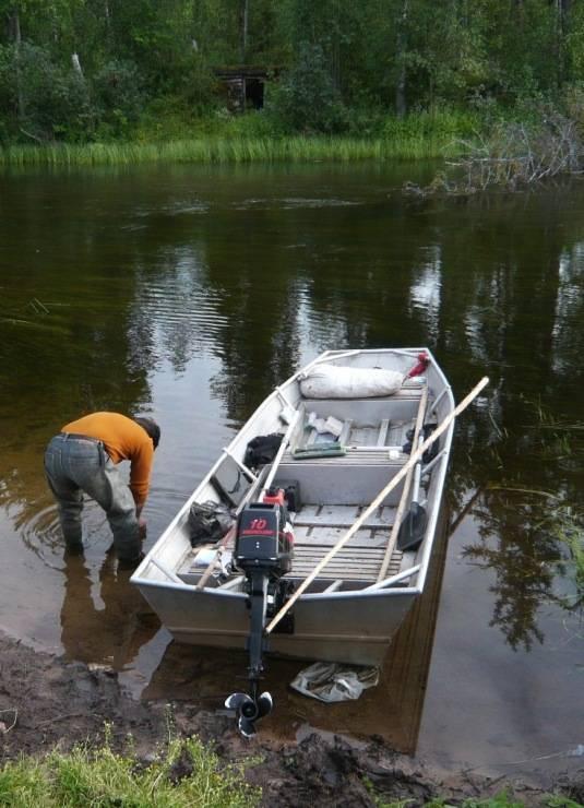 Лодка для мелководья с водометом — viberilodku
