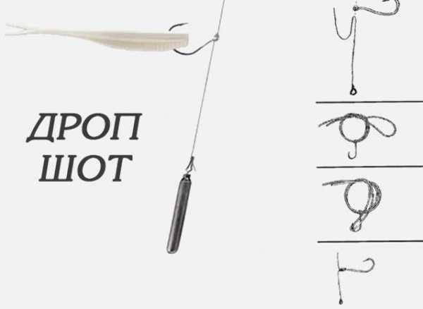 Дроп-шот оснастка для судака, щуки - монтаж и как правильно привязать крючок