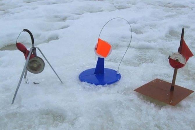 Принцип уловистой постановки жерлиц на льду