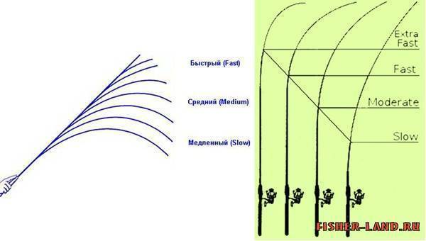 Строй удилища: что это, как выбрать, обозначение и виды (быстрый, средний и медленный)