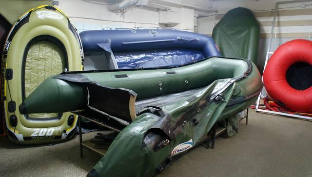 Клеим ткань пвх на примере лодки
