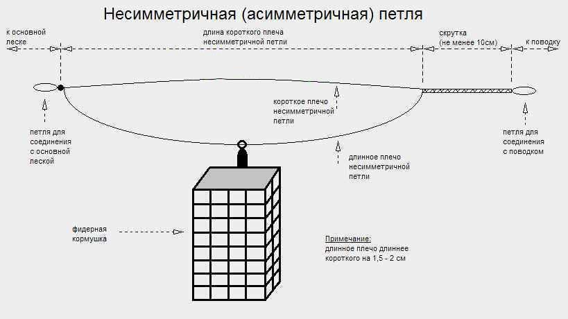 Петля для фидера: асимметричная и симметричная, как вязать петля для фидера: асимметричная и симметричная, как вязать