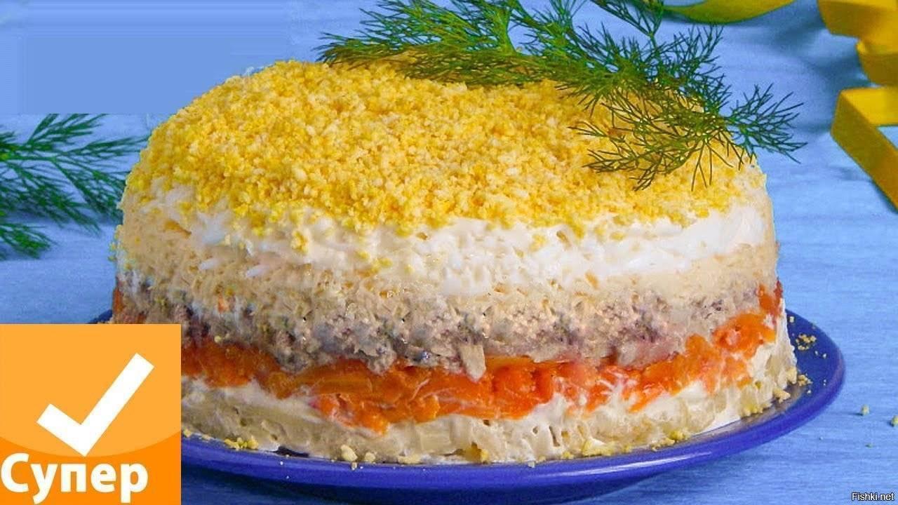 Салат мимоза с рыбными консервами – пошаговые рецепты