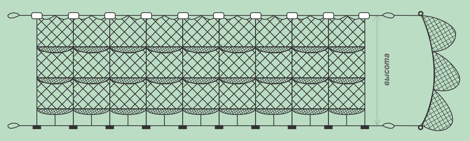 Насадка рыболовных сетей размеры таблица. как сделать посадку рыболовных сетей своими руками. достоинства сплошных плавающих и грузовых шнуров