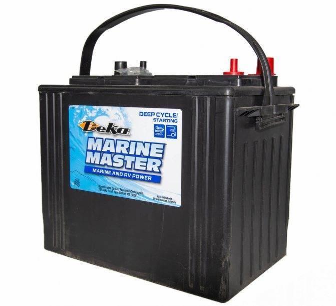 Аккумулятор для лодочного электромотора: на 12 вольт, тяговый, гелевый, глубокой разрядки, на 24 вольта