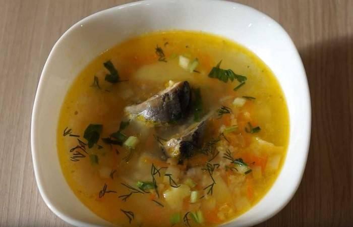 Суп из консервированной горбуши с пшеном
