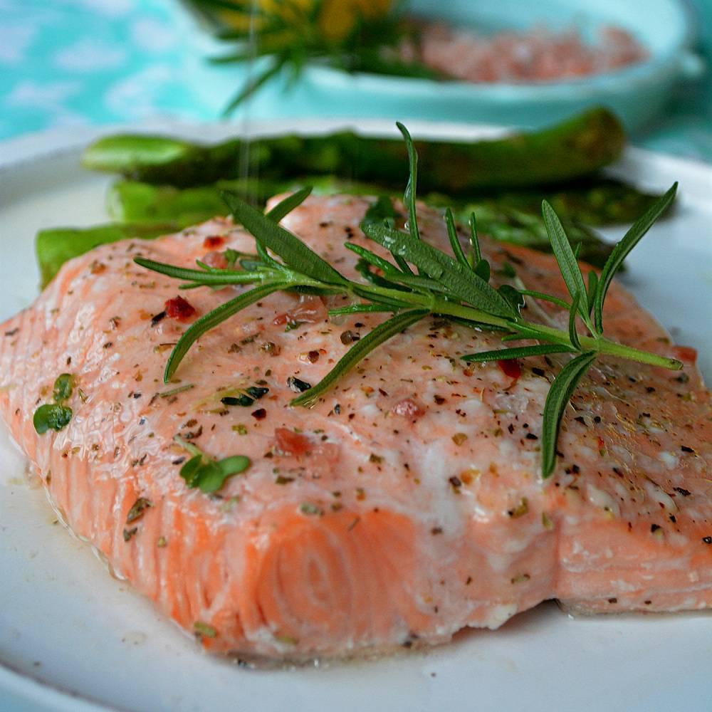 Стейк лосося в мультиварке, в фольге - пошаговый рецепт с фото