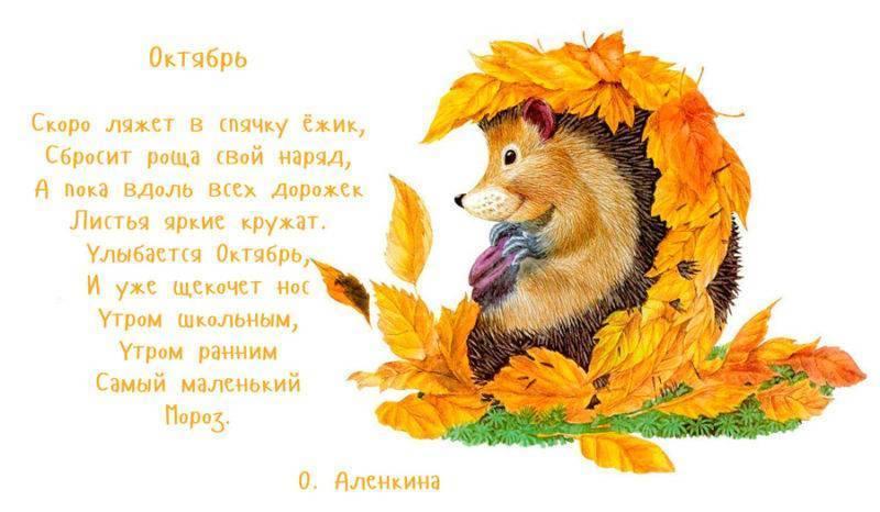 Осенние стихи для детского сада, детей 4-5-6 лет и для школьников