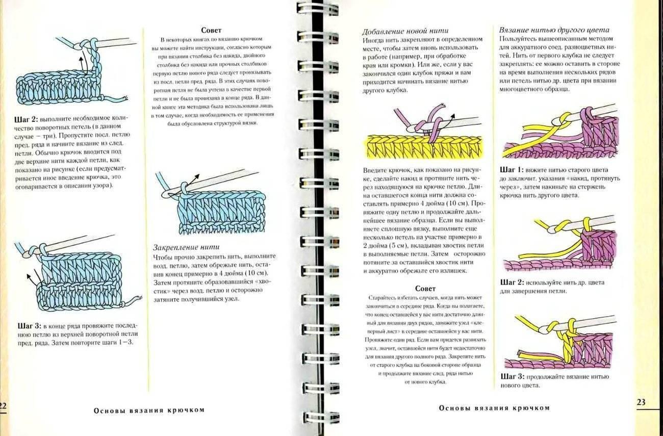 Вязание крючком для начинающих схемы с подробным описанием