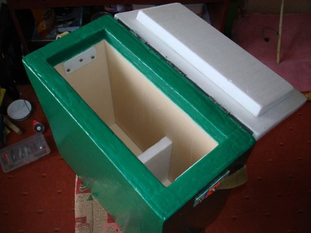 Ящик для зимней рыбалки со льда. заводские и самодельные ящики