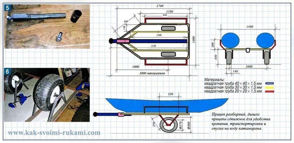 Прицеп для лодки своими руками. инструкция по изготовлению, чертежи, материалы :: syl.ru