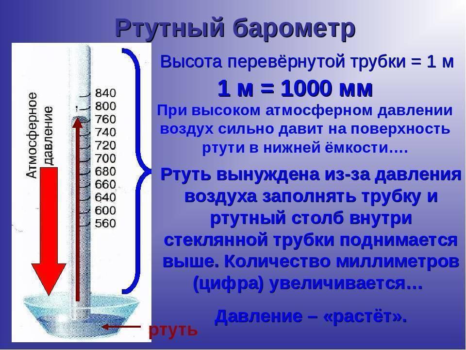 Нормальное атмосферное давление для человека