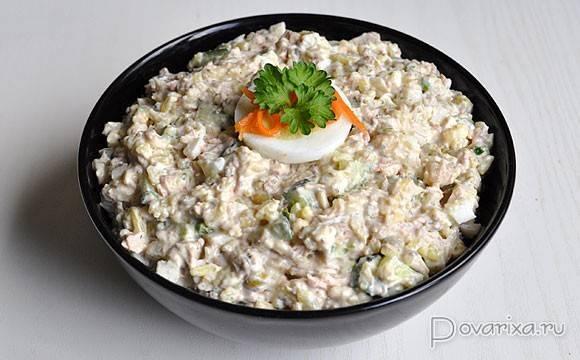 Салат с рисом и рыбой » рецепты - готовим дома | «наобед.kz»