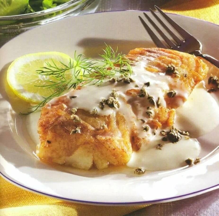 Рыбные котлеты в сметанном соусе