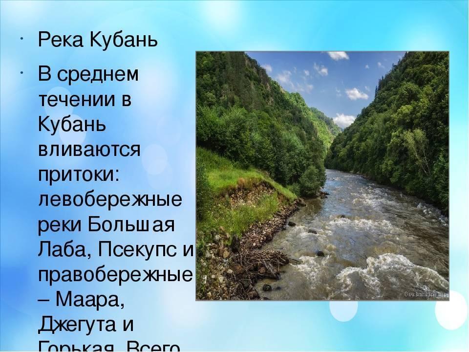 25 главных рек краснодарского края