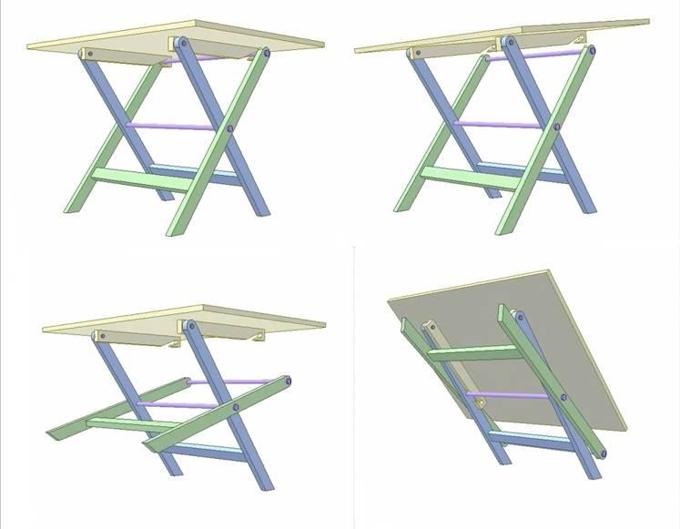 Как сделать складной столик своими руками: чертежи, проекты, инструкции и советы по постройке (90 фото + видео)
