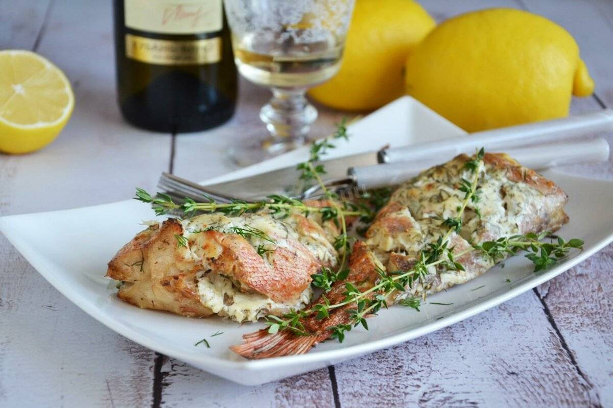 Окунь морской жареный на сковороде: жарим морского окуня вкусно