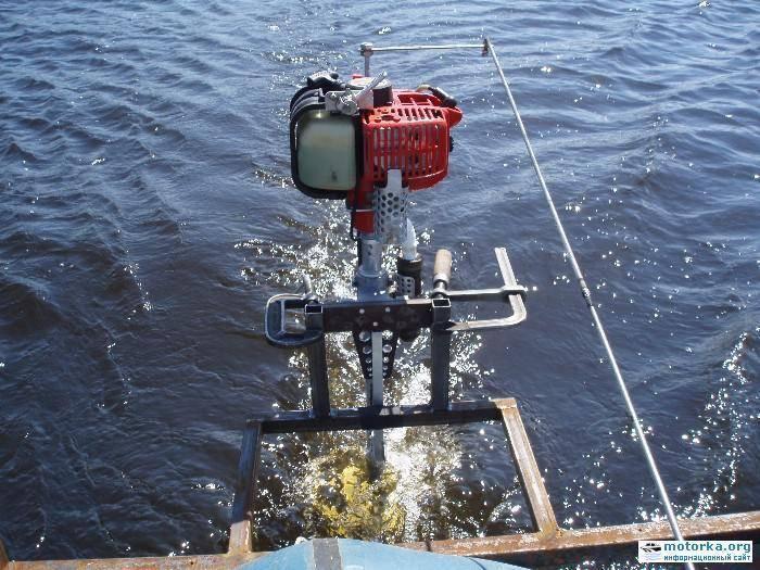 Переделка: мотор для лодки на базе триммера - рабочаятехника
