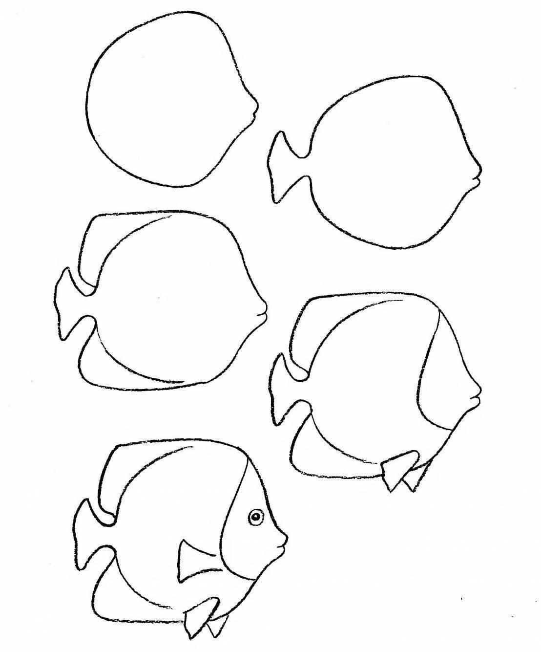 Нарисовать рыбка – как нарисовать золотую рыбку поэтапно. пошаговый урок рисования рыбки