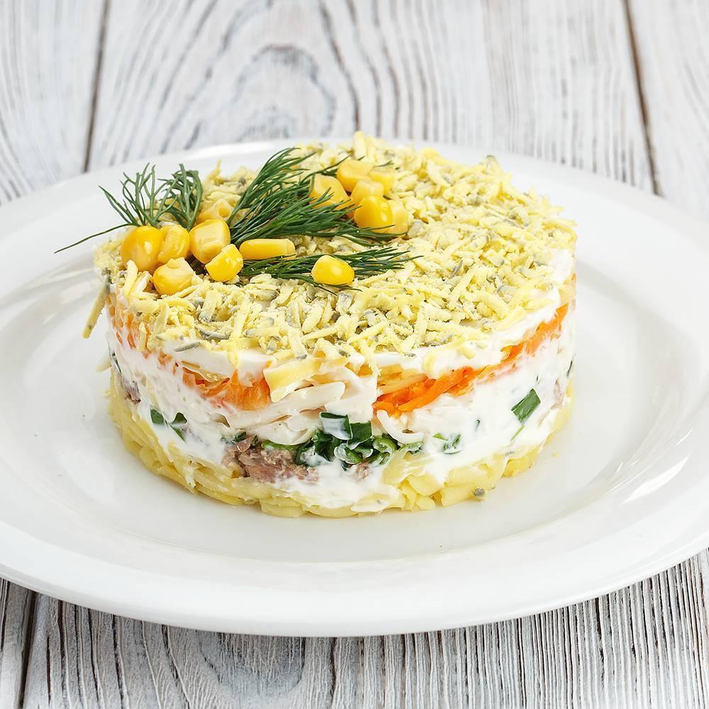 Рыбный салат с картофелем » рецепты - готовим дома | «наобед.kz»