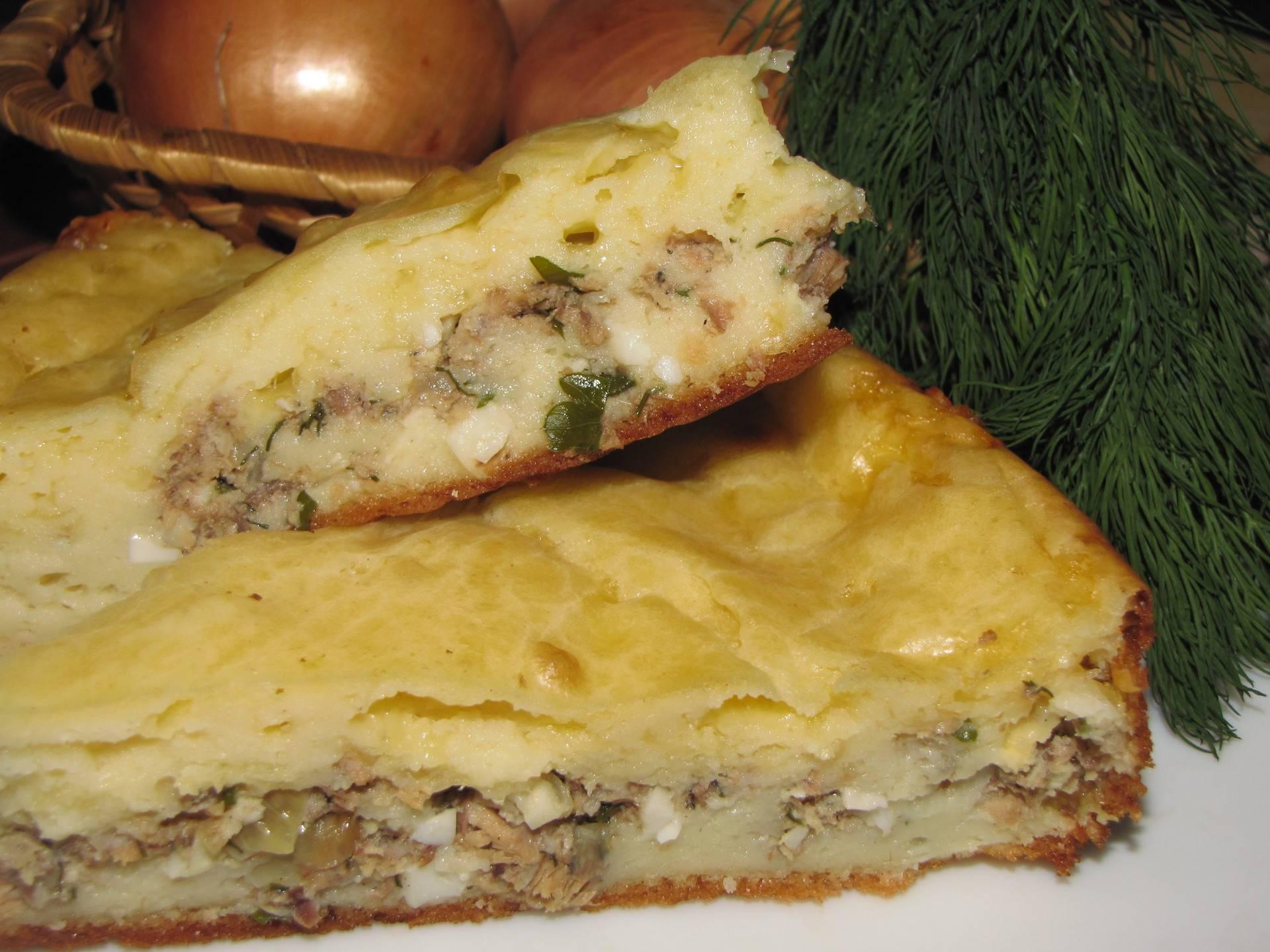 """Рыбный пирог """"приморский"""" – кулинарный рецепт"""