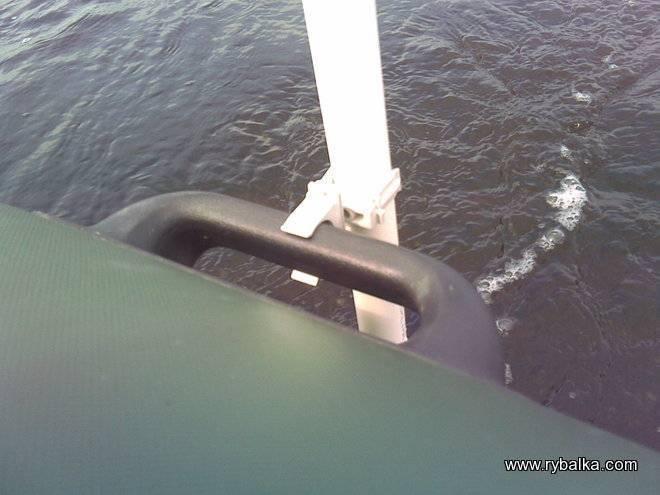 Правильная установка и крепление эхолота на лодку пвх